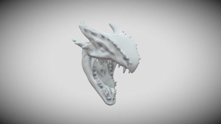 Sea serpent head 3D Model