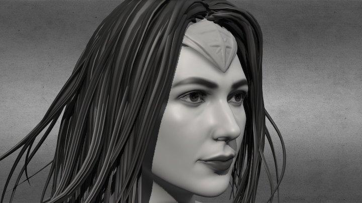 Wonder Woman-gal gadot v2 3D Model