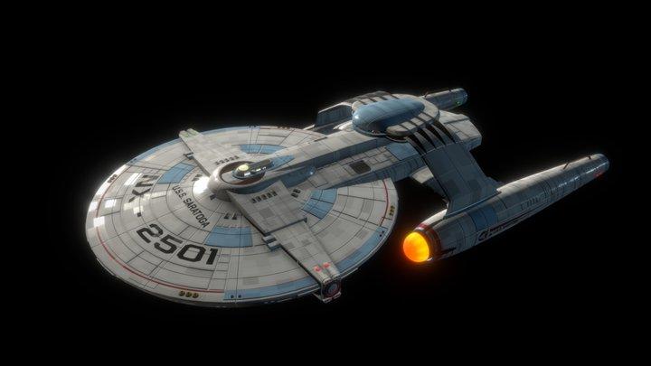 USS Saratoga (Star Trek Fan Design) 3D Model