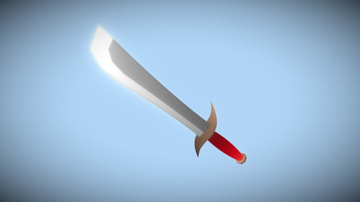 Iron Knife (Low Poly) 3D Model