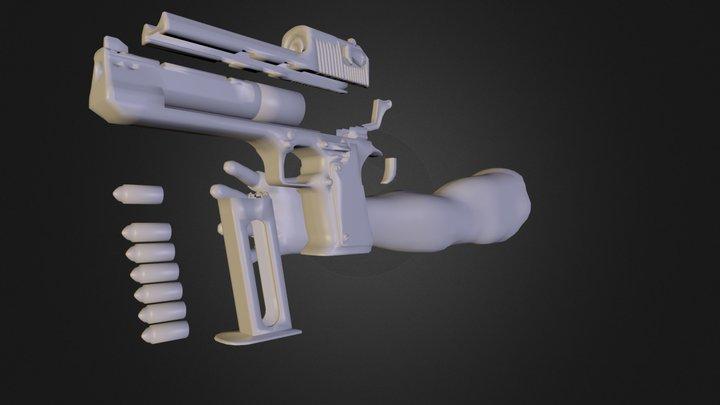 Pistol N E Lowpoly Final Segments 3D Model