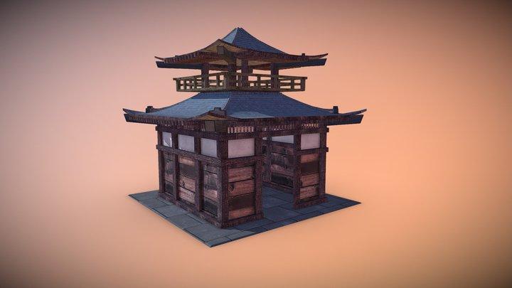 Japanese style building 3D Model