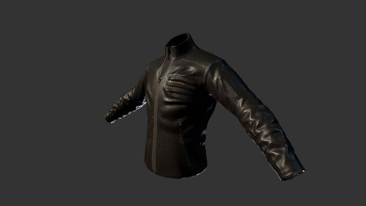 Leather Jacket Sculpt/Lowres 3D Model