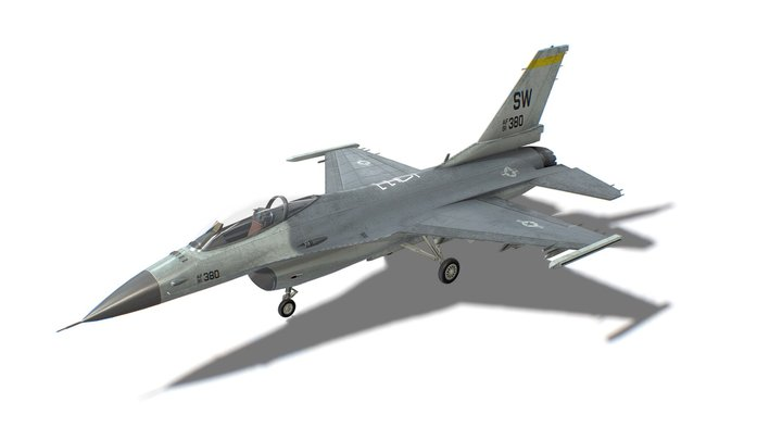 F-16 Fighting Falcon Jet Fighter Aircraft 3D Model