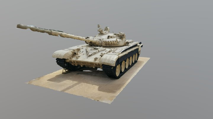 T-72 Raw Scan from Fort Hood Museum 3D Model