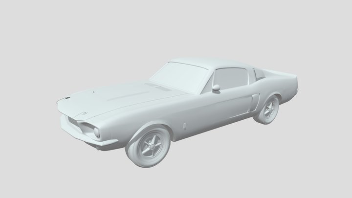 Classic Shelby Mustang 3D Model