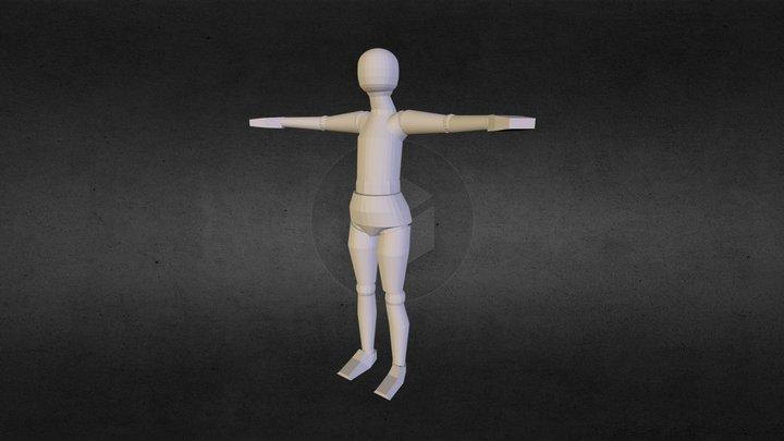 Fallen Human Animation (Test Model) 3D Model
