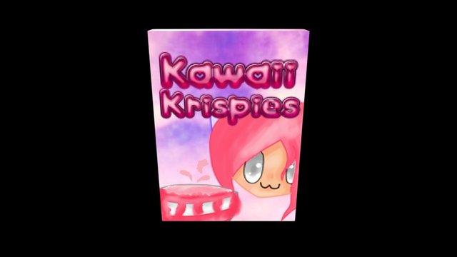 Cereal Texture Kawaii Krispies-By: KawaiiMuski 3D Model