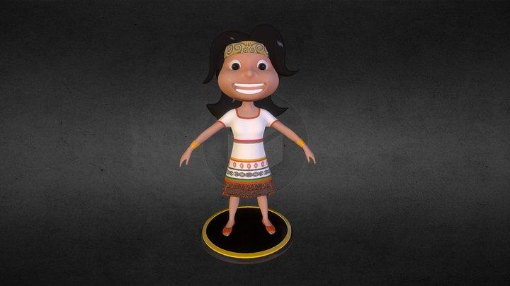 Niña Inca 3D Model