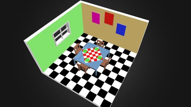 Sala Jantar alegre 3D Model