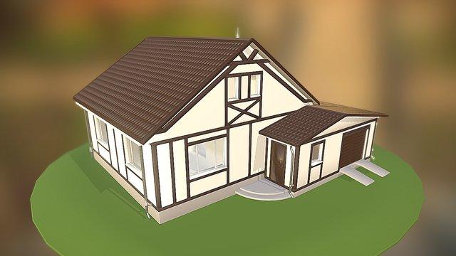 Suburban house 3D Model