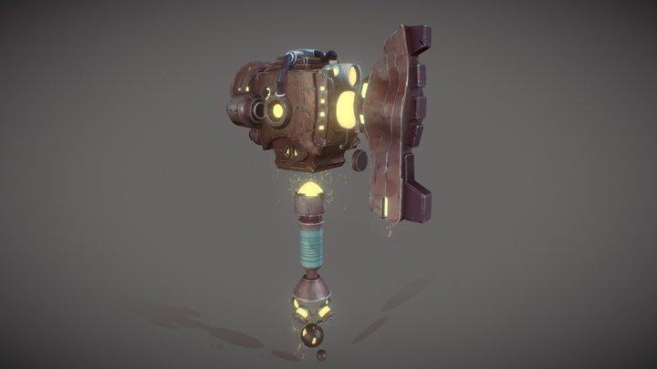 Sci-Fi Hammer 3D Model