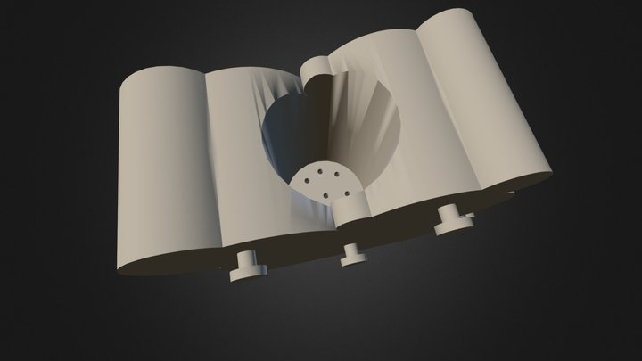 Wall Flower Mount With Water Dispenser (CLICK) 3D Model