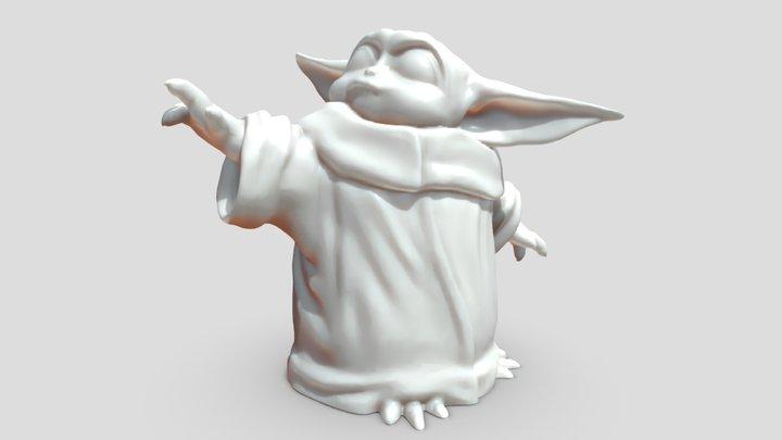 Mandalorian Yoda 50 3D Model