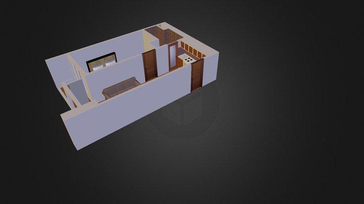 KunCit Ubud 1 BR Tipe BE 3D Model