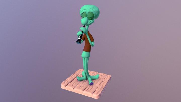Squidward's Jam 3D Model