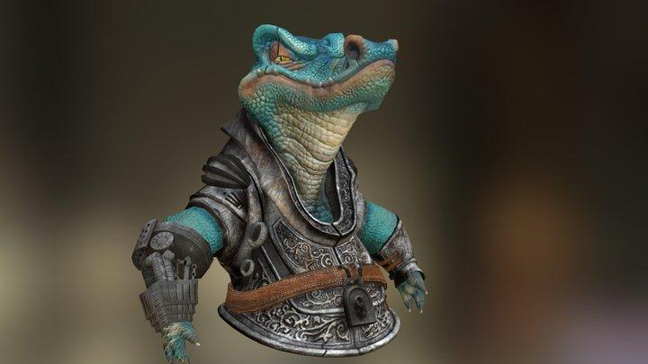 crocodile fan art 3D Model