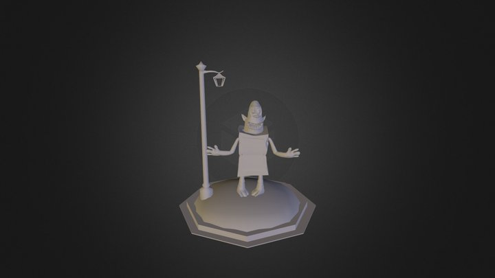Box Troll Smoothed 3D Model