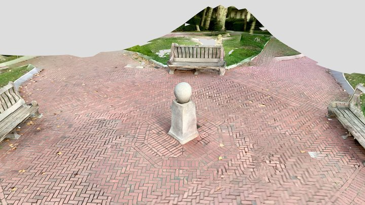 Next to UC Berkeley clock tower 3D Model