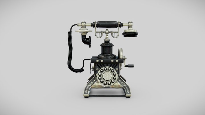 Eiffel Tower 1892 Reproduction Telephone 3D Model