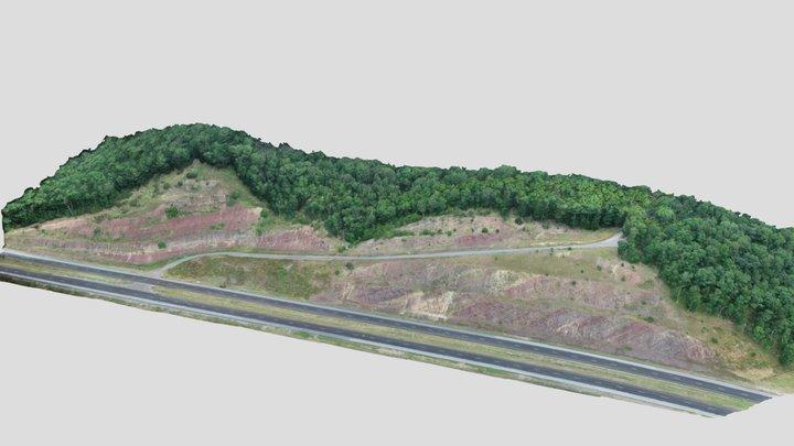 Hampshire Formation 2 - Corridor H WVa 3D Model