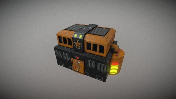 Sci-Fi Building 01 3D Model