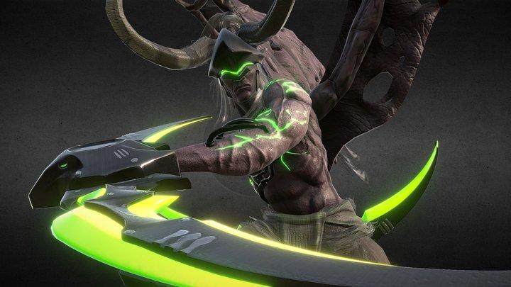 Genjidan Twinblade 3D Model
