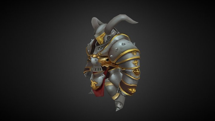 [Handpainted] Knight 3D Model