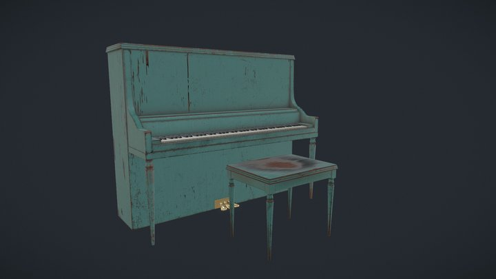 Piano game-prop 3D Model