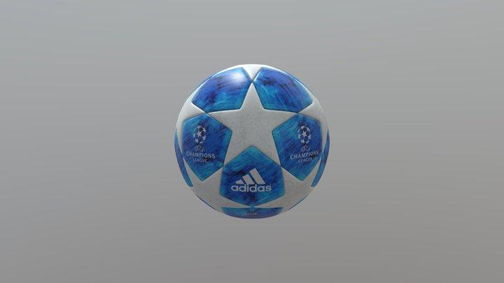 UEFA CHAMPIONS LEAGUE FINALE 18 Ball 3D Model