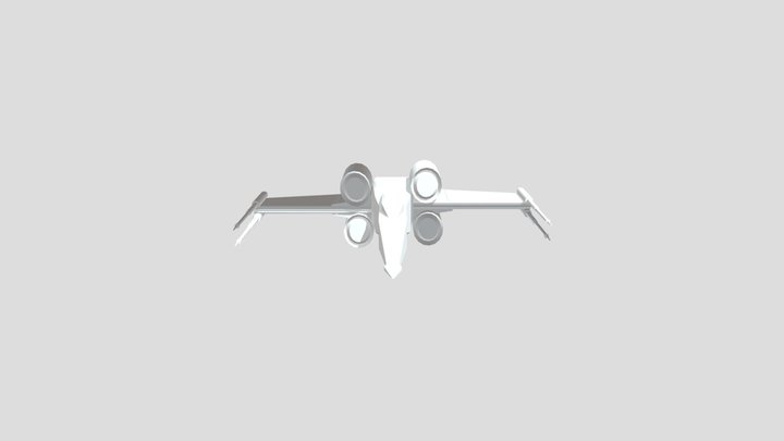X- Wing Animation 3D Model