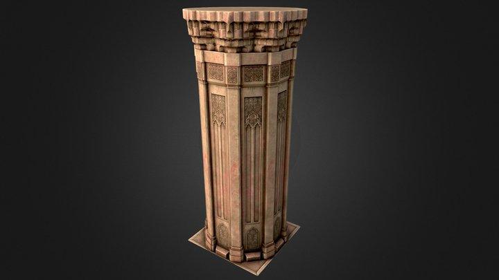 Muqarnas - Pillar 3D Model