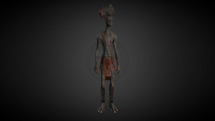 Test Alien PBR & Skinning 3D Model