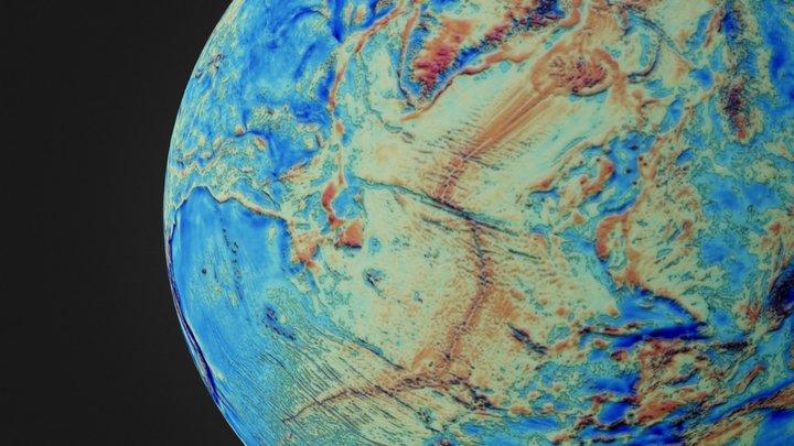 Anomalia Gravimètrica Global 3D Model