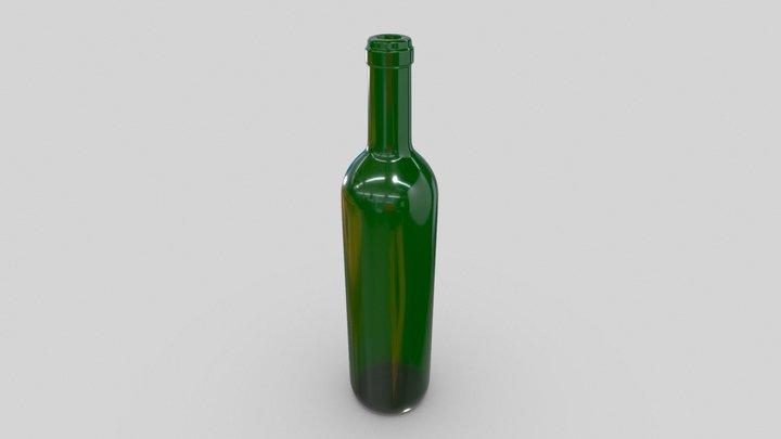 Bottle empty green glass 3D Model