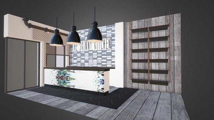 Skinny Kitchen 3D Model