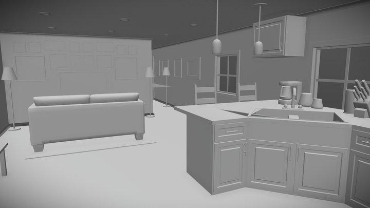 Tornado Sim Mobile Home 3D Model