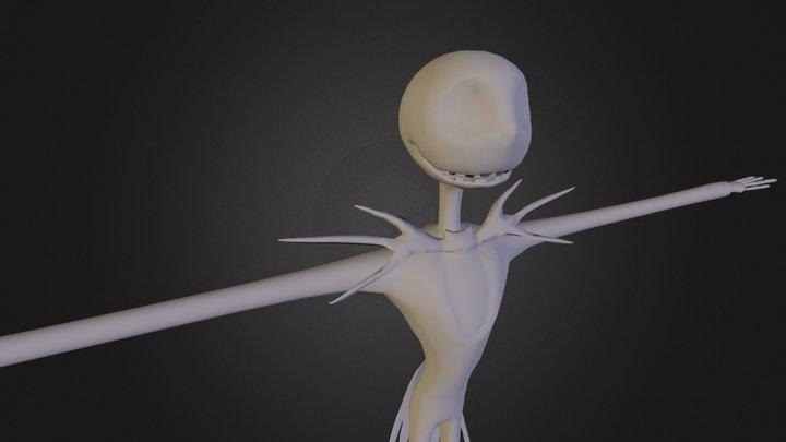 Jack Skellington Low Poly 3D Model