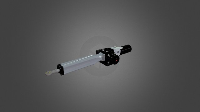 ML+40 Electro Hydraulic Linear Actuator 3D Model