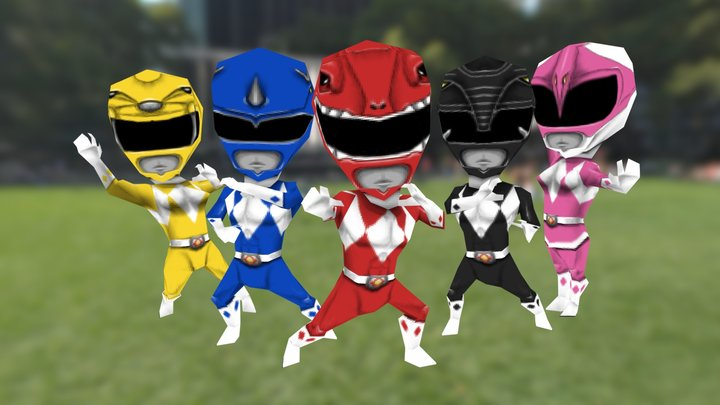 Mighty Morphin' Power Rangers 3D Model