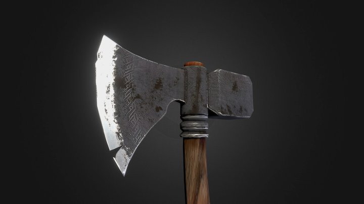 Waraxe from my tutorial series on YouTube 3D Model