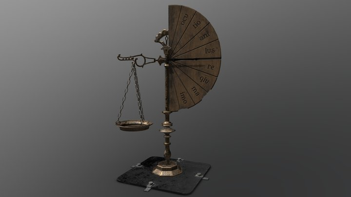 Vintage magic scale 3D Model
