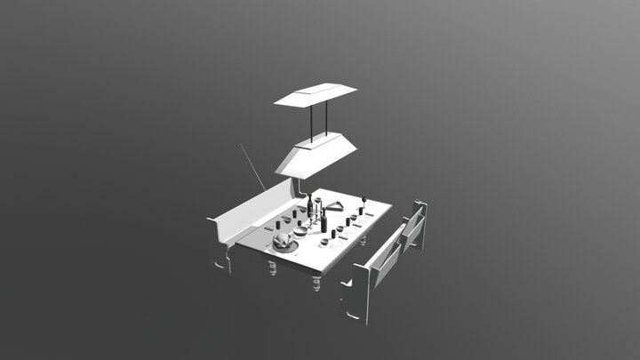 Brojects In The House: Dining Pool Table 3D Model