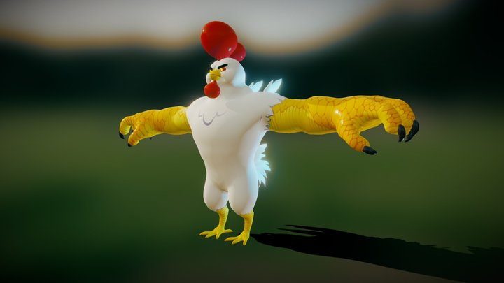 The Cluckening - Monster Nugget 3D Model