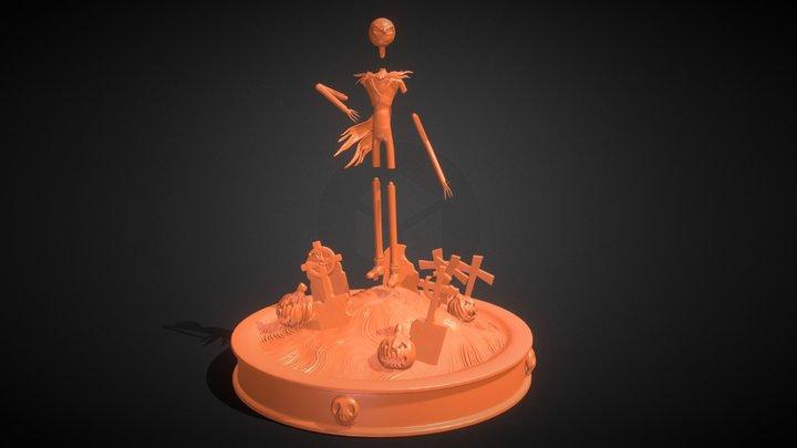 Jack Skellington Sculpture 3D Model