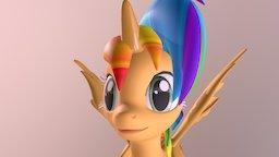 Rolling unicorn 3D Model