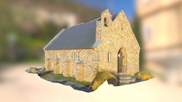 Tekapo historical Church monument 3D Model