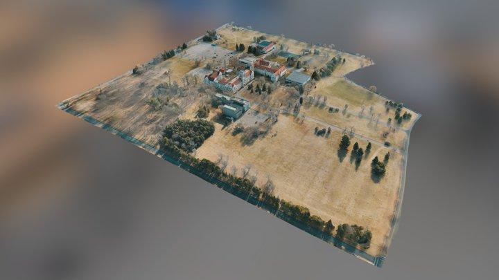 MMU Campus Simplified 3d Mesh 3D Model