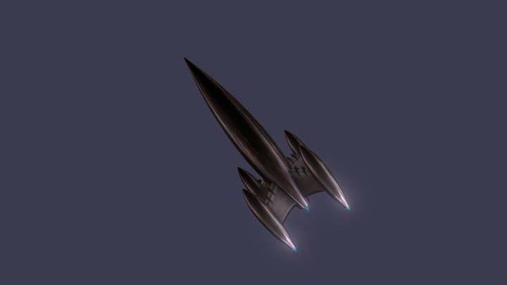 Rocket Ship 3D Model