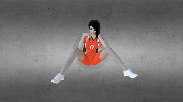 3D Phogure Female Sexy Cosplay Pose - 4 3D Model